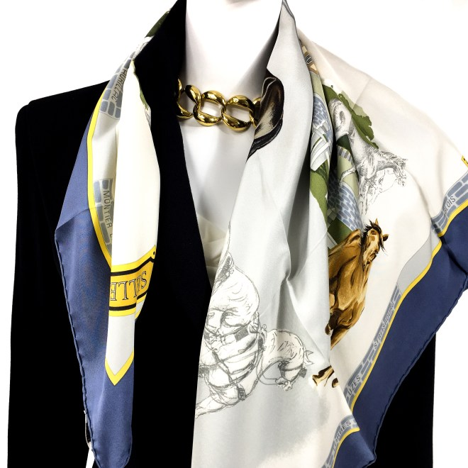 Les Haras Nationaux Hermes Silk Scarf_ (13)