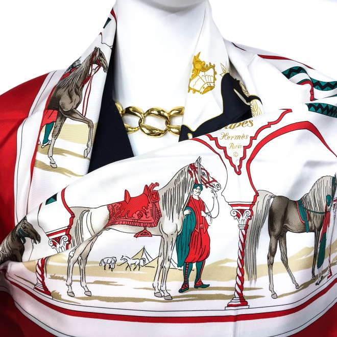 Hermes Silk Scarf Chevaux Arabes Special Issue-3