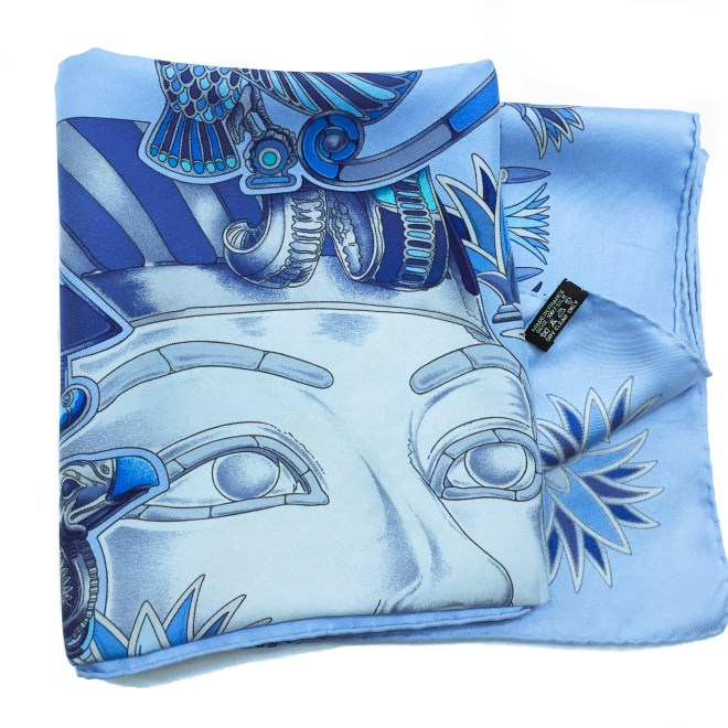 Hermes Silk Scarf Tresors du Nil with care tag