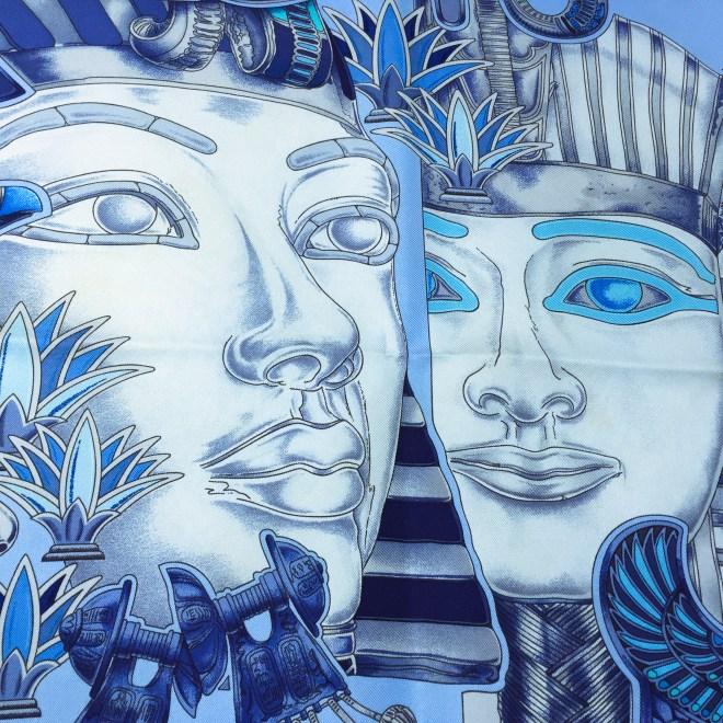 Hermes Silk Scarf Tresors du Nil Blue