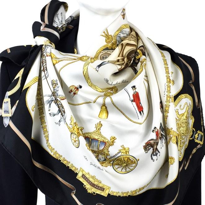 Hermes Silk Scarf The Royal Mews - Buckingham Palace RARE (12).jpg