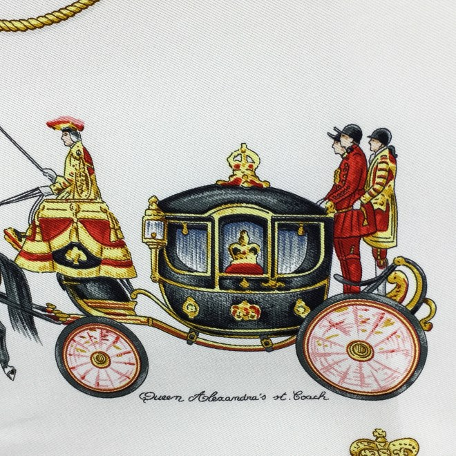 Hermes Silk Scarf The Royal News - Buckingham Palace RARE-6.jpg