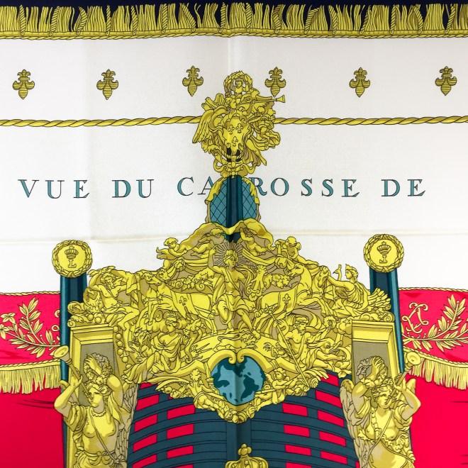 Hermes La Reale - Vue du Carosse de la Galere Silk Scarf UNWORN-4.jpg