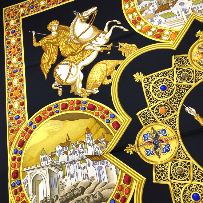 Hermes Le Triomphe du Paladin Silk Scarf_-7