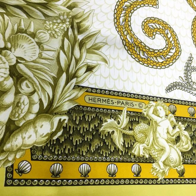 Hermes Silk Scarf Grotte de Versailles-7
