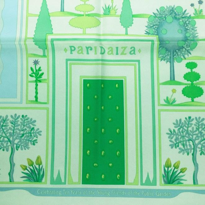 Hermes Silk Scarf Paridaiza Green-6