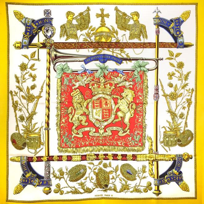 Hermes Silk Scarf Queens Jubilee