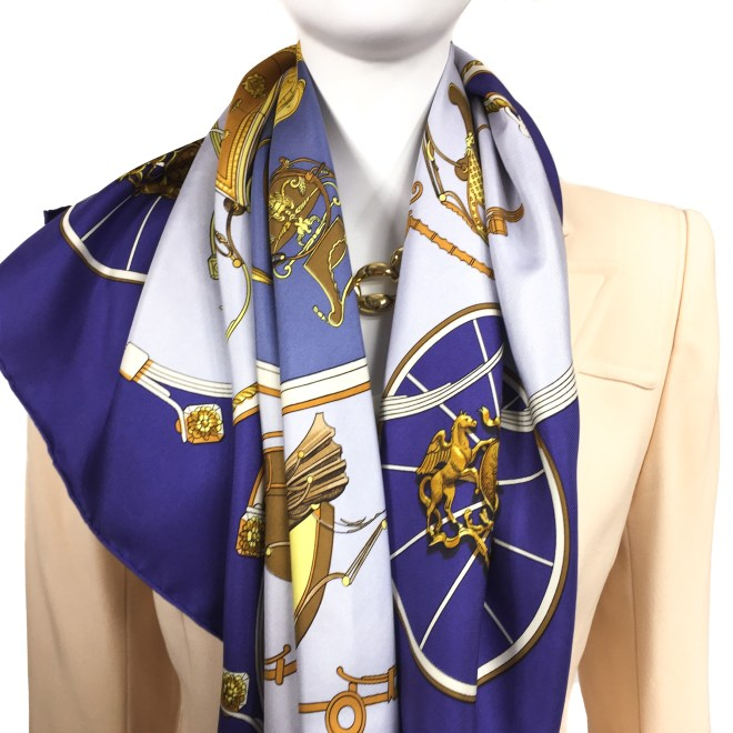 Srings Hermes Silk Scarf Early Issue-15