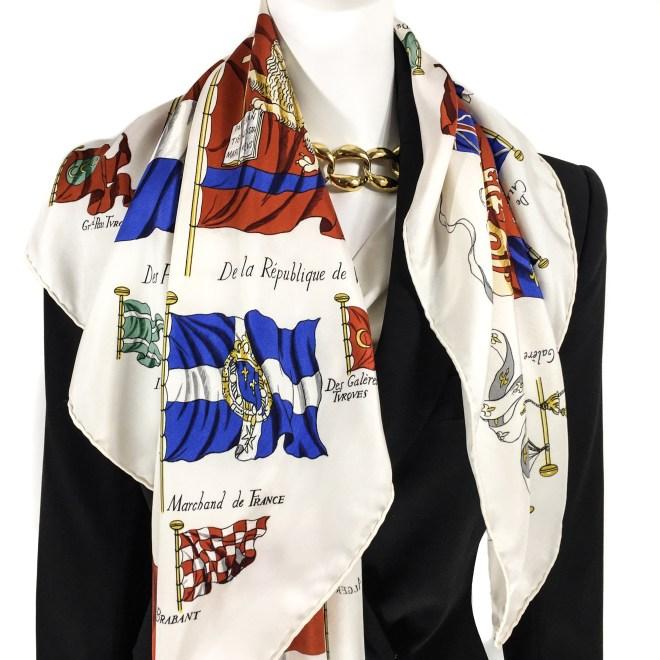 Vintage Hermes Silk Scarf Pavois-10.jpg