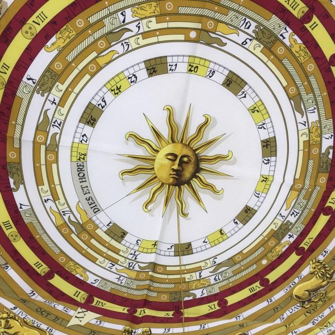 Astrologie Hermes Silk Scarf VINTAGE-4