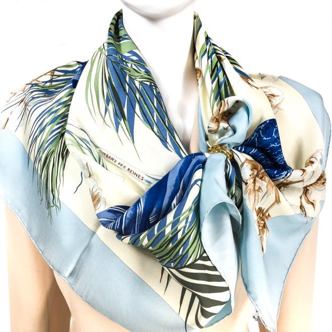 Turbans des Reines Hermes Silk Scarf_