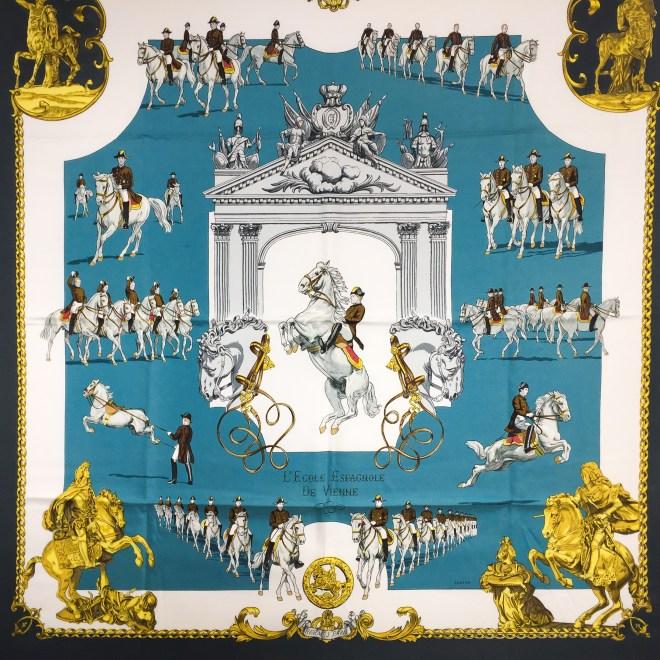 Hermes Silk Scarf L'Ecole Espagnole de Vienne