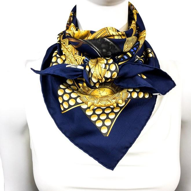 Hermes Silk Scarf L'Or des Chefs-11