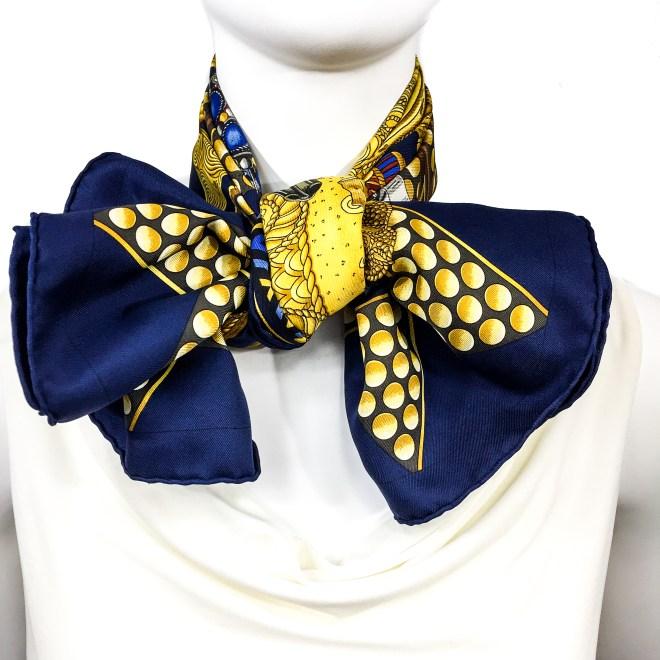 Hermes Silk Scarf L'Or des Chefs-13
