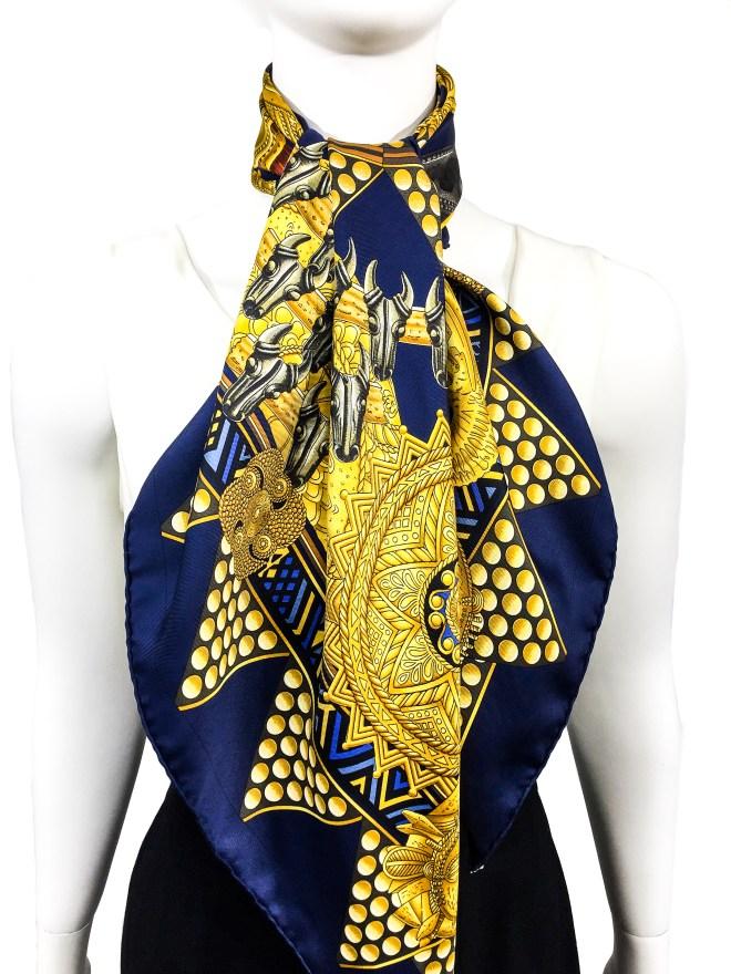 Hermes Silk Scarf L'Or des Chefs-9