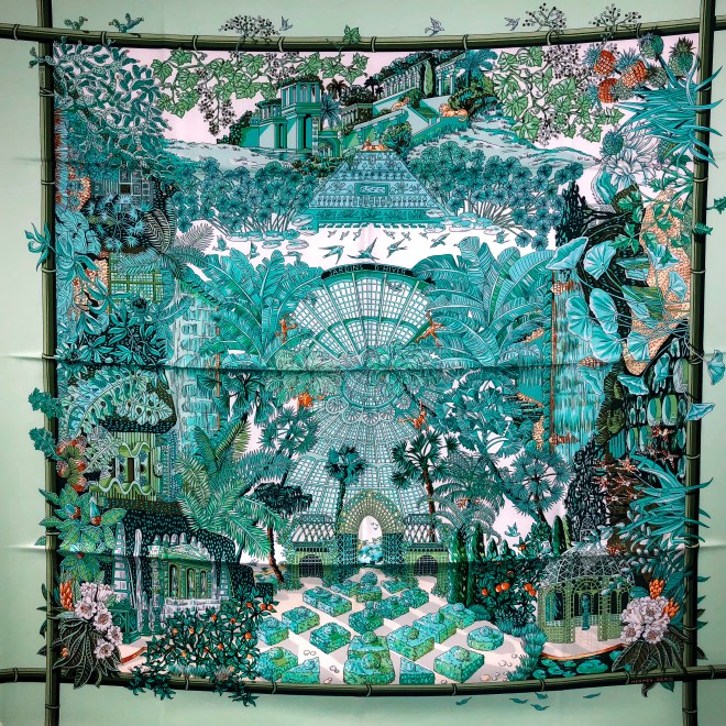Jardins d'Hiver Hermes Silk Scarf from 2007