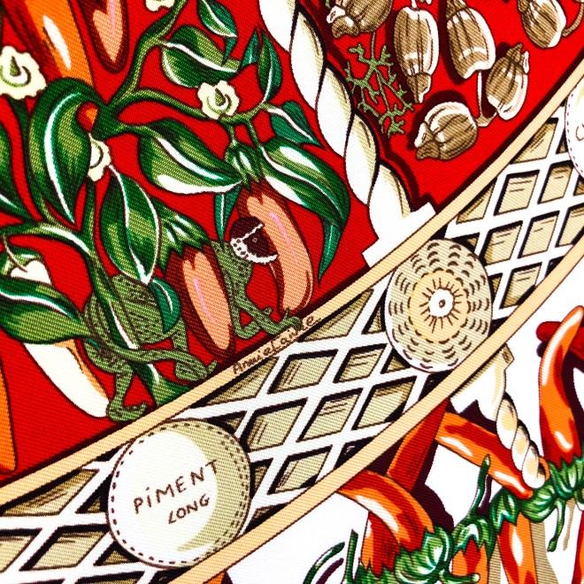 Aux Pays des Epices Hermes Silk Scarf_-22