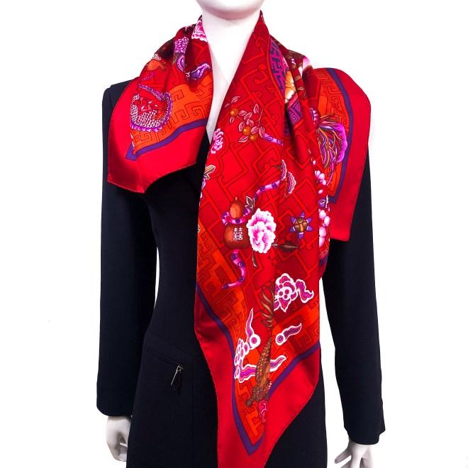 Turandot Hermes Silk Scarf GRAIL RED.jpg