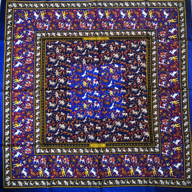 This image has an empty alt attribute; its file name is Hermes-Chasse-en-Inde-Silk-Scarf-4-1024x1024.jpg