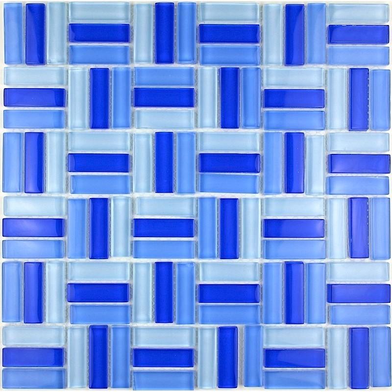 Mosaique Verre Salle De Bain Carrelage Douche City Bleu