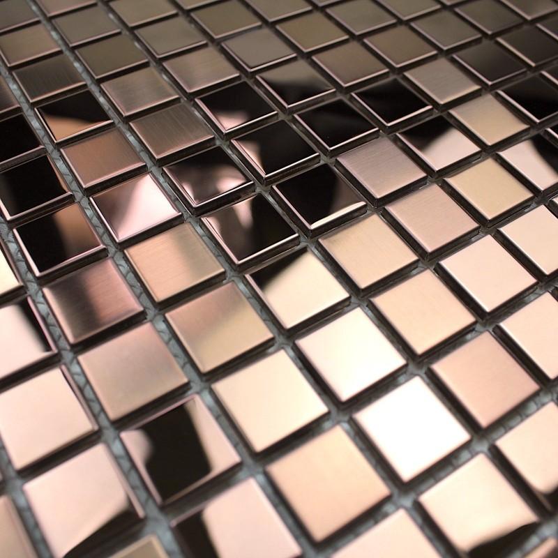 Mosaique Inox Credence Cuisine Mosaique Douche Mixtion Cuivre Carrelage Inox Fr