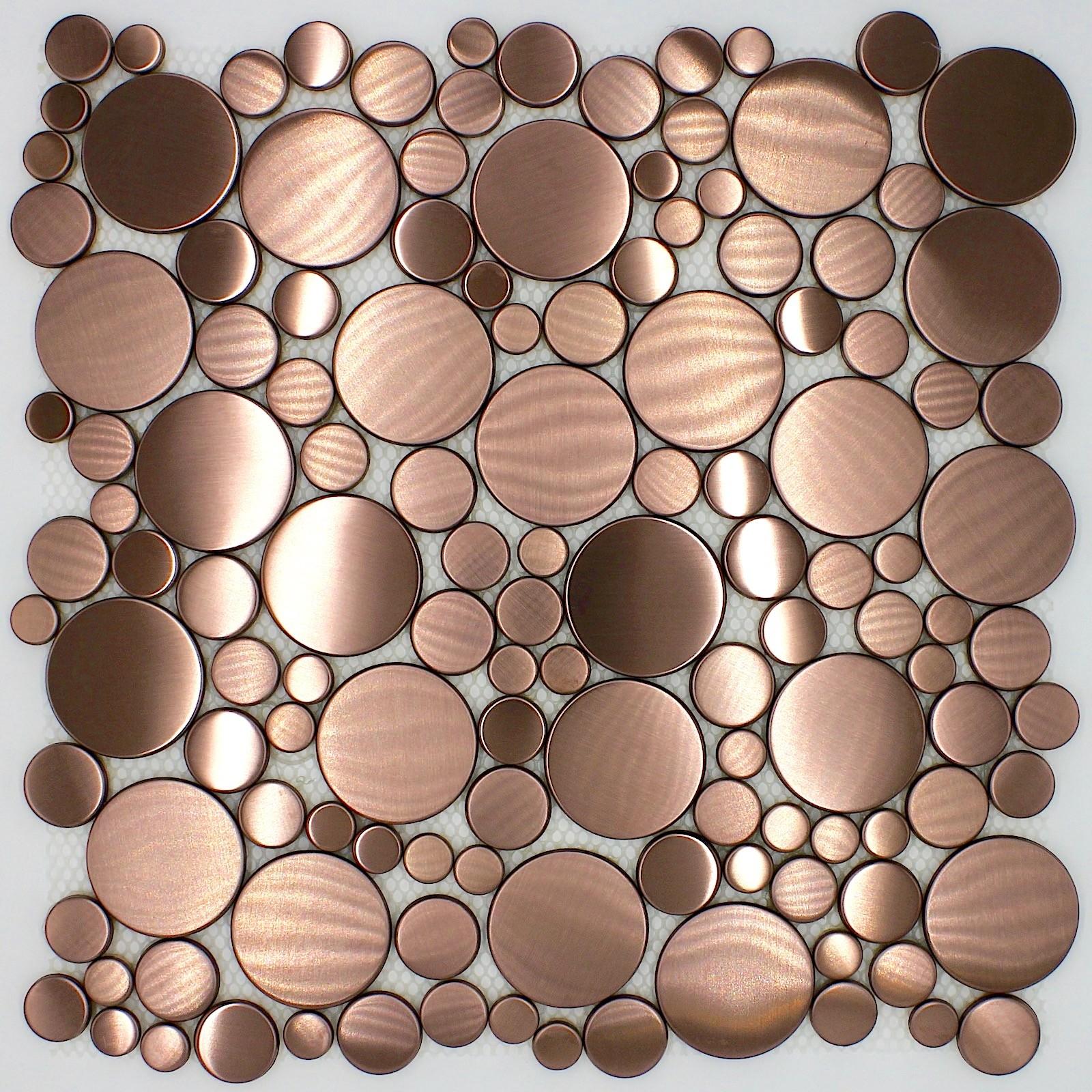 carrelage galet rond cuivre sol ou mur