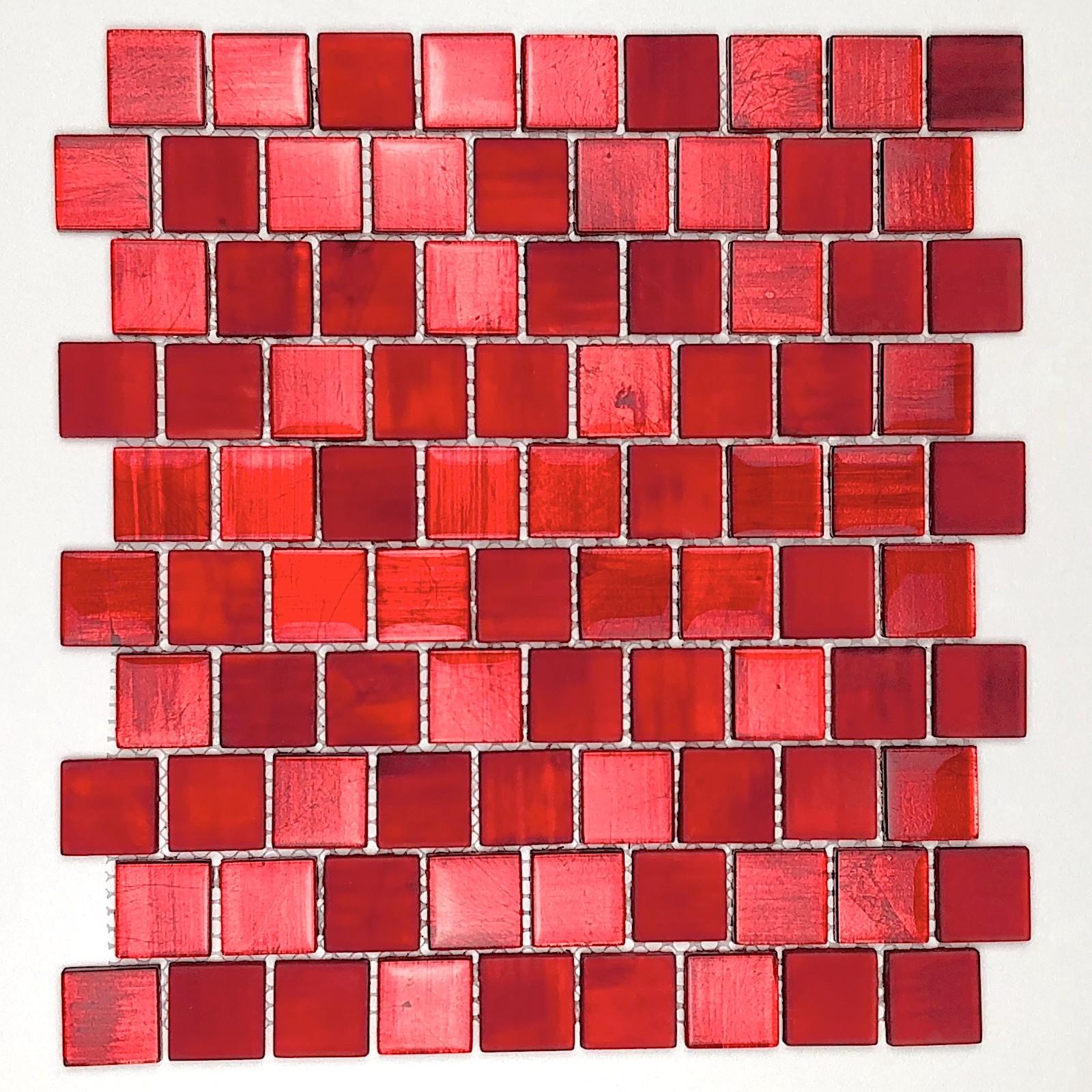 Carrelage Mur Cuisine Et Credence Salle De Bain Modele Mv Drio Rouge Carrelage Inox Fr