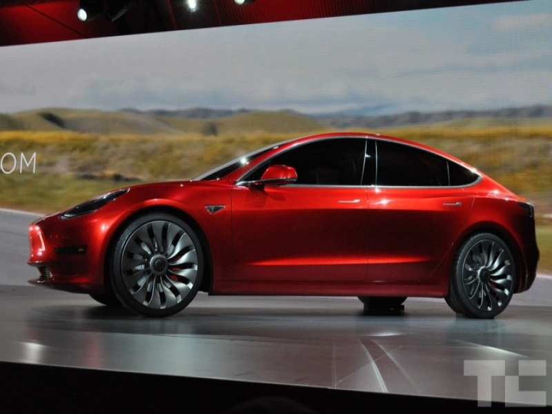 2017 Tesla Model 3 Tesla Unveils 35000 Model 3 Electric Car Shipping Late 2017
