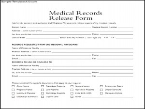 release of medical records template
