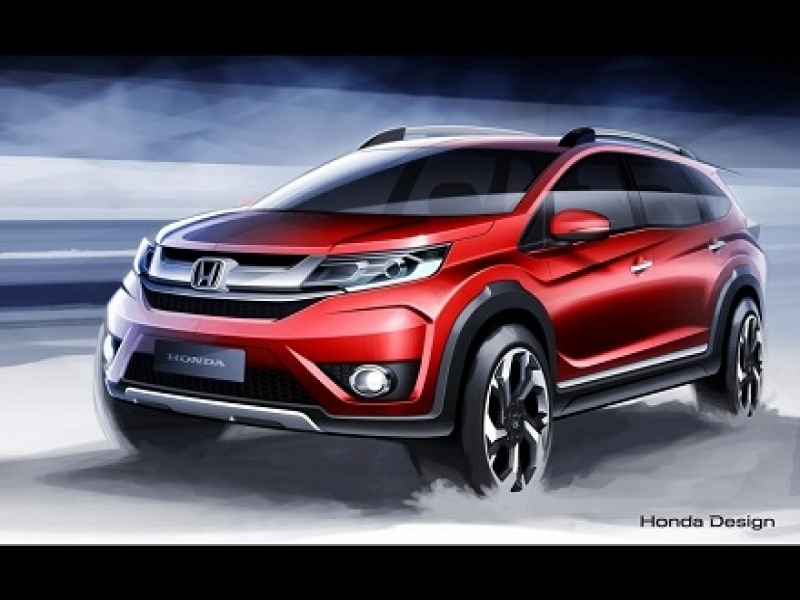 New Car Launch India New Honda Br V Sketches Released India Launch In 2016 New