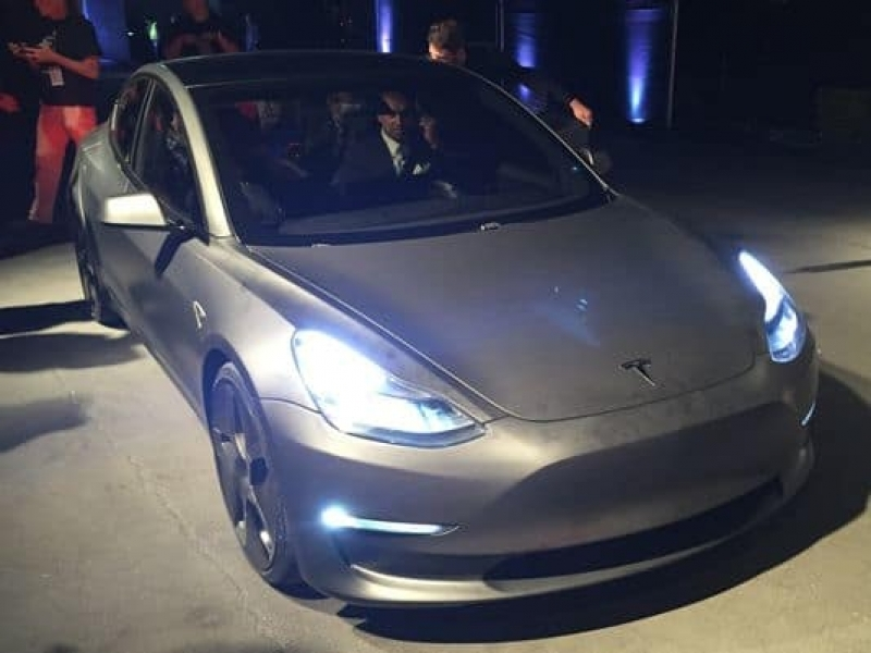 New Tesla Model 3 Tesla Unveils Its Model 3 Sedan As Pre Orders Top 198000