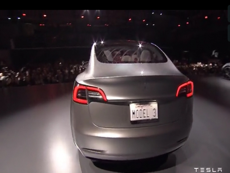 New Tesla Model 3 Tesla39s Model 3 Features Continuous Backlite That Turns Into Roof