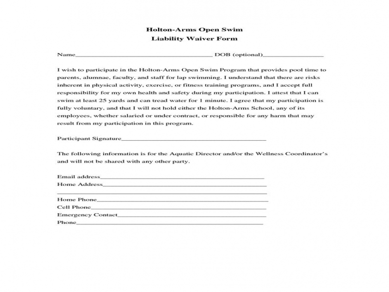 Release Of Liability Form Car Accident Waiver Of Liability Form Template Form Sample General Liability
