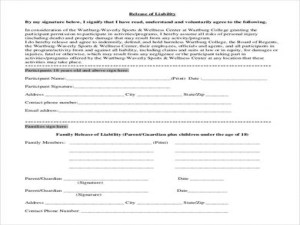 Release Of Liability Form Pdf Sample Release Form 9 Examples In Pdf Word