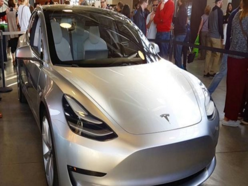 Tesla New Car Model 3 Tesla Model 3 Shown Off At Employee Party New Images Cleantechnica