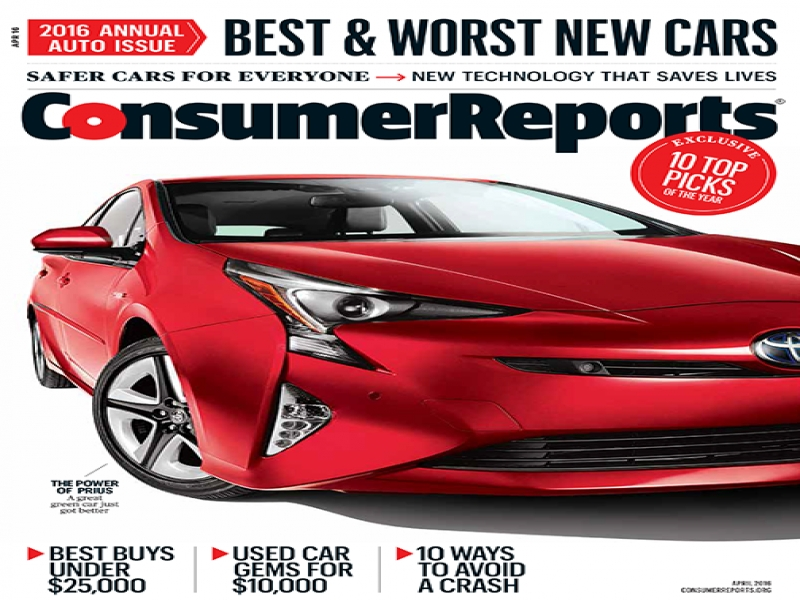 Consumers Guide On New Autos 2016 Consumer Reports Bookstore Magazines