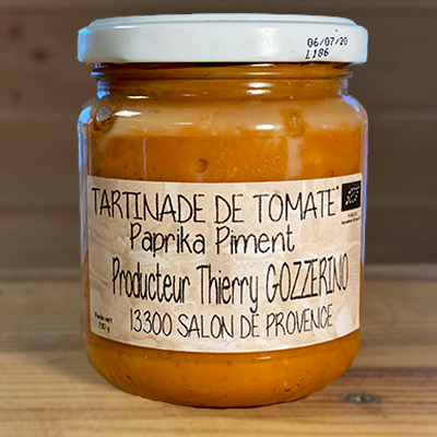 Tartinade à la tomate, paprika et piment bio