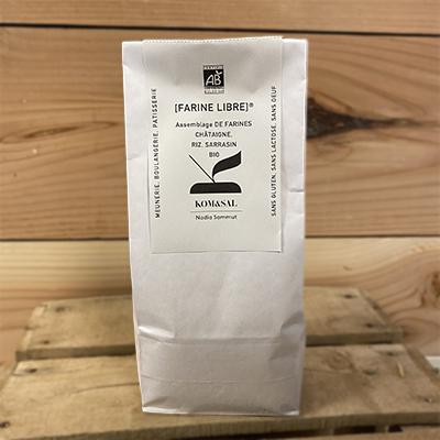 Assemblage farine Chataigne sarrasin riz bio 500 gr