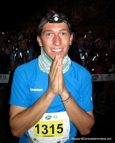 Manuel Merillas en la salida Transvulcania 2014