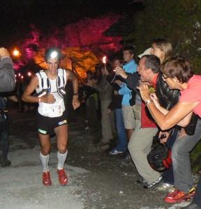 Kilian Jornet camino a la victoria en UTMB 2009