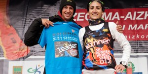 Kilian Jornet  y Oihana Kortazar vencedores en Zegama 2012