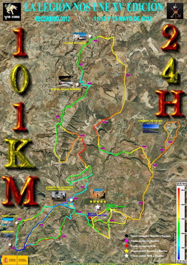 101 de ronda 2013 mapa recorrido