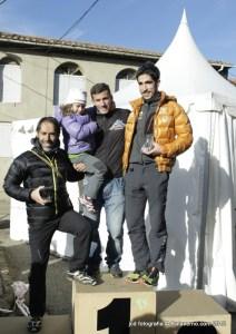Cross Alpino Peña del Tren 2012. Podio Absoluto Masculino.