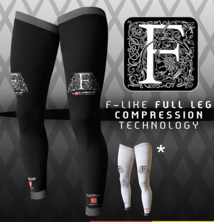 Medias compresión Compressport full leg (120gr/84€)