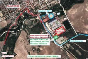Trail del Serrucho 2013 Alalpardo. Mapa de instalaciones.