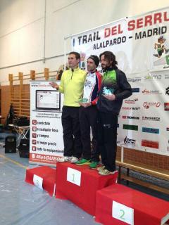 Trail del Serrucho 2013 Podio veteranos. Vencedor Juanma Agejas.