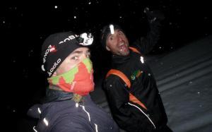Trail running sobre nieve: Raul Frechilla y Pablo Criado en Alpes