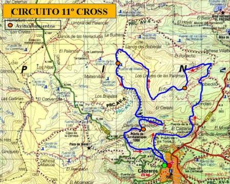 Cross Alpino Cebreros 2013 Mapa.