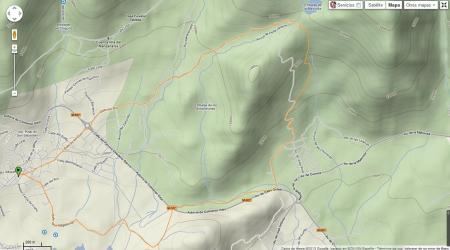 Cross Nocturno Navacerrada 28 Junio 2013. Mapa de nivel carrera 10km