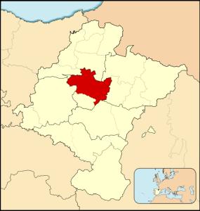 Cuenca de Pamplona mapa